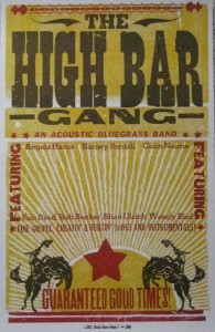 High Bar Gang limited edition poster